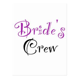 Bride's Crew Postcard