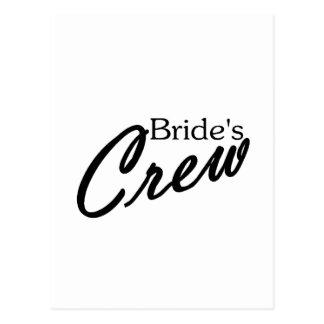Brides Crew Postcard