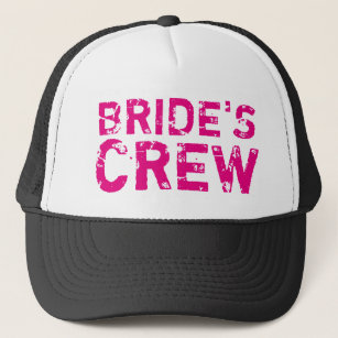 7f1c3ae439bed BRIDES CREW vintage bachelorette party trucker hat