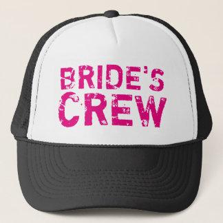 BRIDES CREW vintage bachelorette party trucker hat