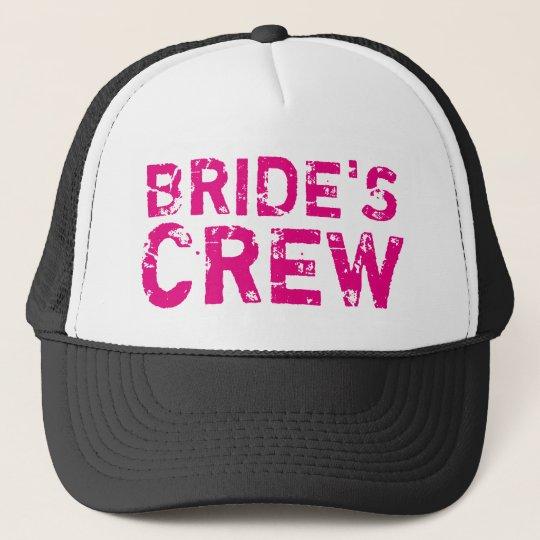 a8b276f444b BRIDES CREW vintage bachelorette party trucker hat