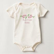 Bride's Cutest Relative Watercolor Cherry Blossom Baby Bodysuit