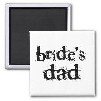 Bride's Dad Black Text Refrigerator Magnets