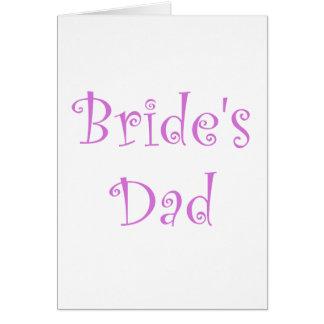Bride's Dad Card