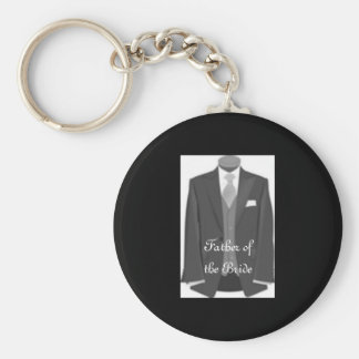 Brides Dad Key Ring Father of the Bride Keychain