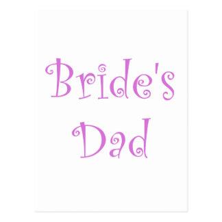 Bride's Dad Post Cards