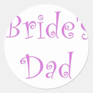 Bride's Dad Stickers