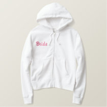 Brides Embroidered Sherpa-lined Zip Hoodie (R)