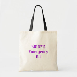 Bride's emergency kit bag