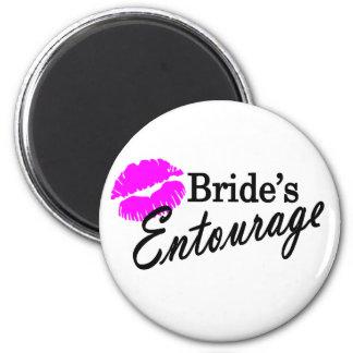 Brides Entourage 2 Inch Round Magnet