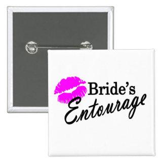 Brides Entourage 2 Inch Square Button