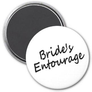 Bride's Entourage 3 Inch Round Magnet