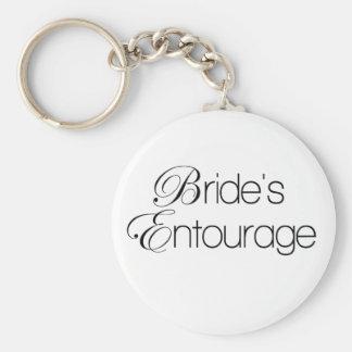 Bride's Entourage Basic Round Button Keychain