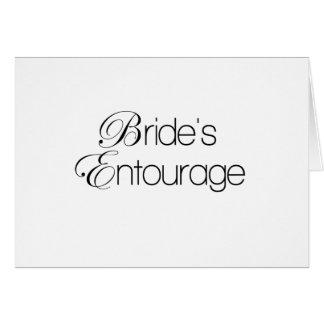 Bride's Entourage Card