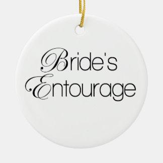 Bride's Entourage Ceramic Ornament
