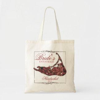 Bride's Entourage Floral Nantucket Wedding Tote Bag