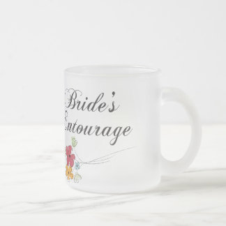 Bride's Entourage Frosted Glass Coffee Mug