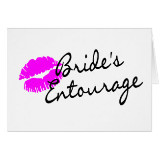 Brides Entourage (Kiss) Card