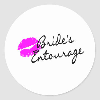 Brides Entourage (Kiss) Classic Round Sticker