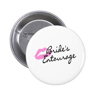 Brides Entourage Lips 2 Inch Round Button