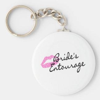 Brides Entourage Lips Basic Round Button Keychain