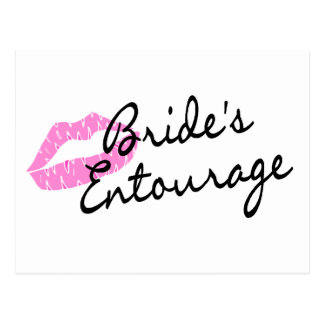 Brides Entourage Lips Postcard