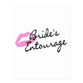Brides Entourage Lips Postcard