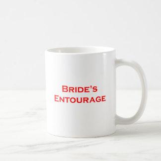 bride's entourage masculine writing gear coffee mug