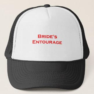 bride's entourage masculine writing gear trucker hat