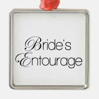 Bride's Entourage Metal Ornament