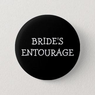 Brides Entourage Pinback Button