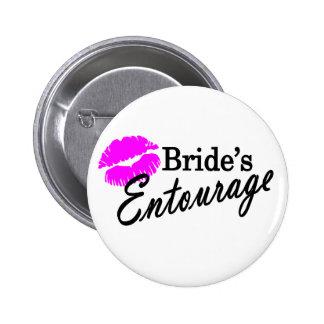 Brides Entourage Pinback Buttons
