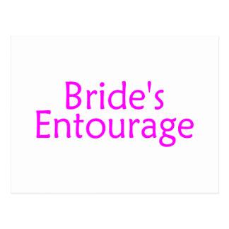 Brides Entourage Pink Postcard