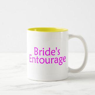 Brides Entourage Pink Two-Tone Coffee Mug