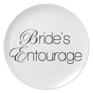 Bride's Entourage Plate