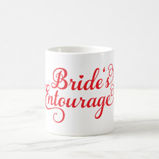 Brides Entourage, red text design for t-shirt Coffee Mug