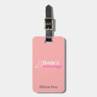 Bride's Entourage with Angel Wings Tag For Luggage
