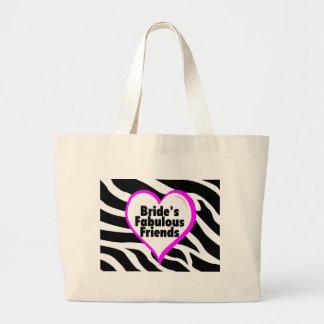 Brides Fabulous Friends Zebra Stripes Tote Bag