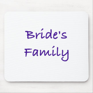 bride's family wedding gear mousepads