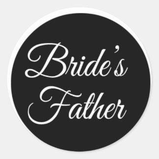 brides father classic round sticker