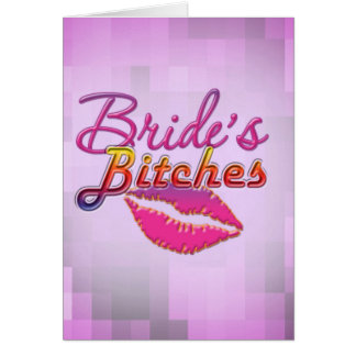 brides friends bachelorette party bride bridesmaid greeting card