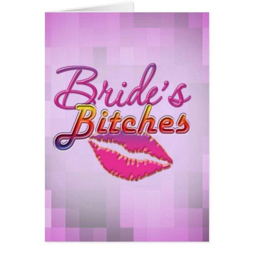 brides friends bachelorette party bride bridesmaid card