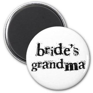 Bride's Grandma Black Text 2 Inch Round Magnet