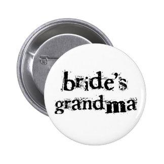 Bride's Grandma Black Text Pins