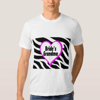 Brides Grandma (Heart Zebra Print) T-Shirt