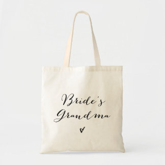 Bride's Grandma | Modern Calligraphy Tote Bag