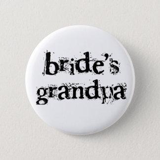 Bride's Grandpa Black Text Button