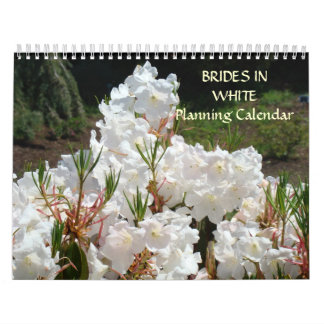 BRIDES IN WHITE Planning Calendar gifts Bridal