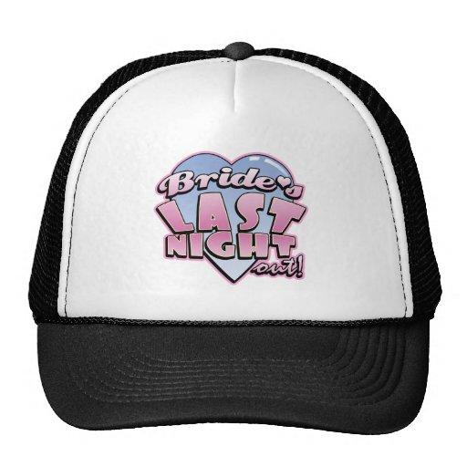 Bride's Last Night Out Bachelorette Party Trucker Hat