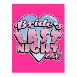 Bride's Last Night Out Bachelorette Party Postcard